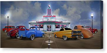 Grill Canvas Print - The Drive In by Mike McGlothlen