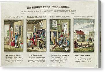The Drunkard's Progress Canvas Print by Library Of Congress