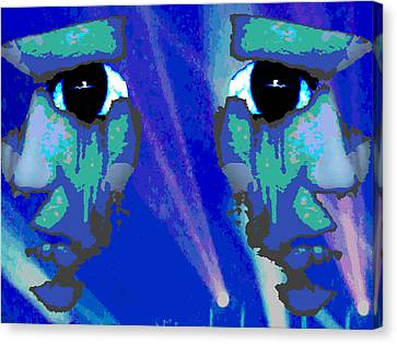 The Duality Of Man Canvas Print by Jimi Bush