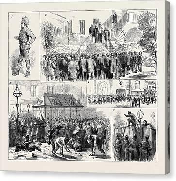 The Dublin Police Strike 1. A Usurper 2 Canvas Print by English School