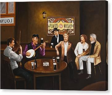 The Dubliners Luke Sings. Canvas Print by Michael Geoghegan
