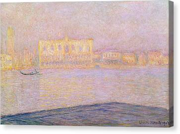 The Ducal Palace From San Giorgio, 1908 Canvas Print by Claude Monet