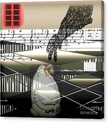 The Duchamp Intervention Canvas Print by Kim Peto
