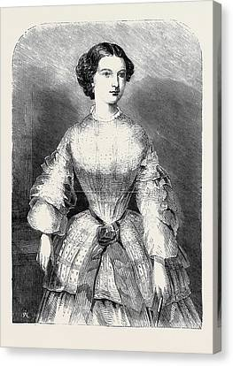The Duchess Of Calabria Canvas Print by English School