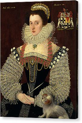 The Duchess Of Chandos Frances, Lady Chandos Inscribed Canvas Print