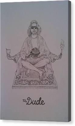 Jeff Bridges Canvas Print - The Dude by Faadil Mustun