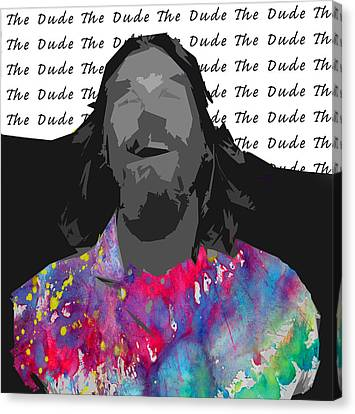 The Dude  Canvas Print by Empty Wall