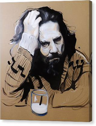 The Dude - The Big Lebowski Canvas Print by Matt Burke