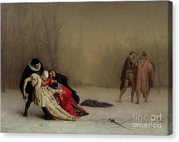 The Duel After The Masquerade Canvas Print by Jean Leon Gerome