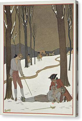 The Duel Between Valmont And Danceny Canvas Print