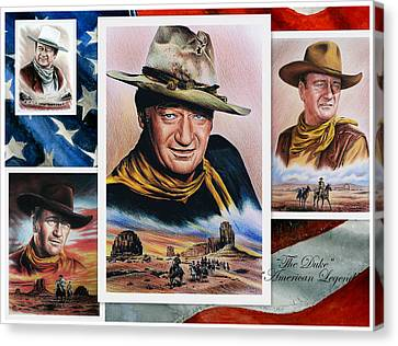 Michael Canvas Print - The Duke American Legend by Andrew Read