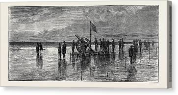 The Duke And Duchess Of Teck At Southport Experiments Canvas Print by English School