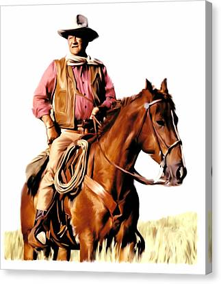 Movie Art Canvas Print - The Duke  John Wayne by Iconic Images Art Gallery David Pucciarelli