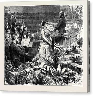 The Duke Of Edinburgh Accompanying Madame Marie Roze Canvas Print by English School