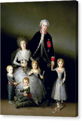 The Duke Of Osuna And His Family, 1788 Oil On Canvas Canvas Print by Francisco Jose de Goya y Lucientes