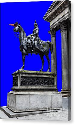 The Duke Of Wellington Goma Blue Canvas Print by John Farnan