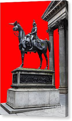 The Duke Of Wellington Red Canvas Print by John Farnan