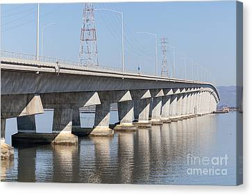 The Dumbarton Bridge In The South Bay Area California 5dimg2615 Canvas Print by Wingsdomain Art and Photography