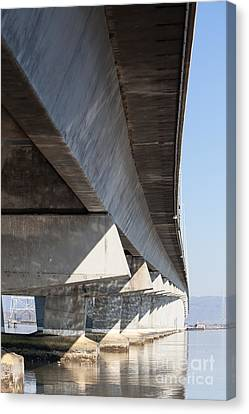 The Dumbarton Bridge In The South Bay Area California 5dimg2645 Canvas Print by Wingsdomain Art and Photography