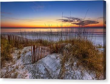 The Dunes At Sunset Canvas Print by Debra and Dave Vanderlaan