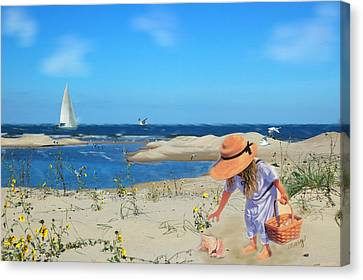 Canvas Print featuring the photograph The Dunes by Mary Timman