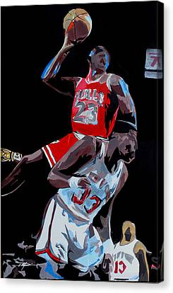 The Dunk Canvas Print by Don Medina