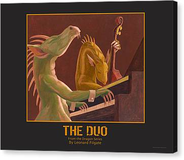 The Duo Canvas Print by Leonard Filgate