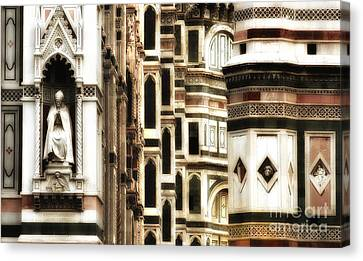 The Duomo Up Close Canvas Print by Mike Nellums