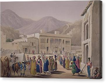 Mountain Canvas Print - The Durbar-khaneh Of Shah by James Atkinson