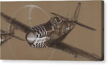 The Duxford Boys Drawing Canvas Print by Wade Meyers