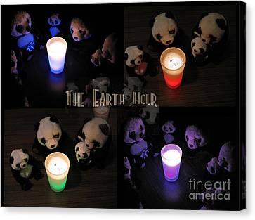 The Earth Hour In The Pandaland Canvas Print by Ausra Huntington nee Paulauskaite