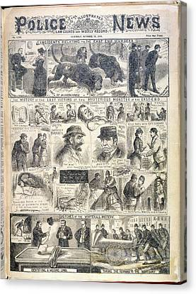 The East End Murders Canvas Print by British Library