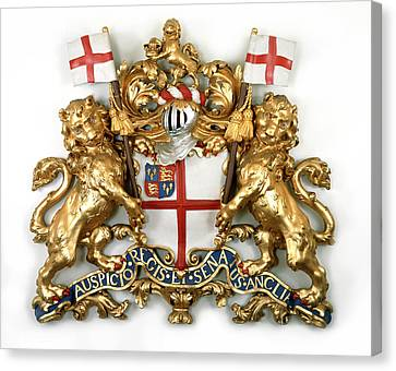 The East India Company Coat Of Arms Canvas Print