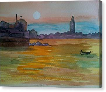 Canvas Print featuring the painting The East by Judi Goodwin