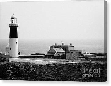 The East Light Lighthouse And Buildings Altacarry Altacorry Head Rathlin Island Northern Ireland Canvas Print by Joe Fox
