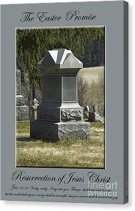 Canvas Print - The Easter Promise Monument Card by Andrew Govan Dantzler