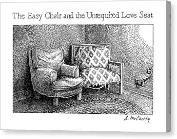 The Easy Chair And The Unrequited Love Seat Canvas Print