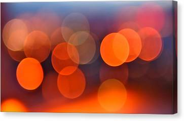 Peach Canvas Print - The Edge Of Night by Rona Black