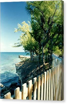 The Edge Of The Island Canvas Print by Susan Duda