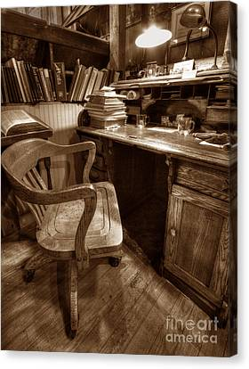 The Editor's Desk Canvas Print by ELDavis Photography