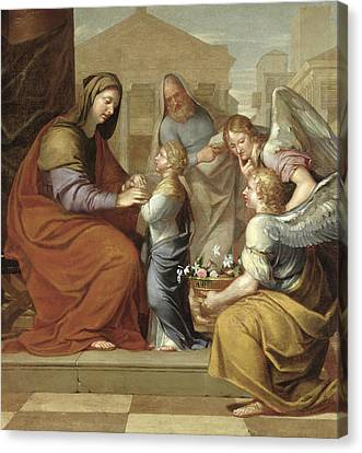 With Canvas Print - The Education Of The Virgin, 1658 Oil On Canvas by Pierre Letellier
