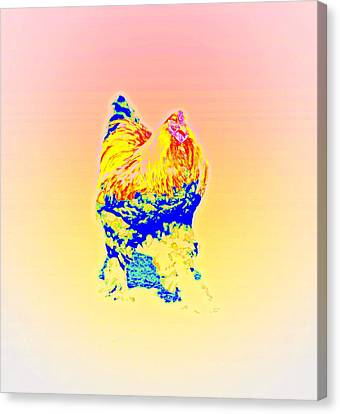The Egg Warmer Is Flying Again  Canvas Print by Hilde Widerberg