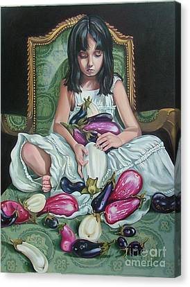 The Eggplant Princess Canvas Print by Shelley Laffal