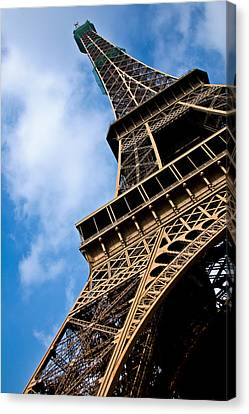 The Eiffel Tower From Below Canvas Print by Nila Newsom