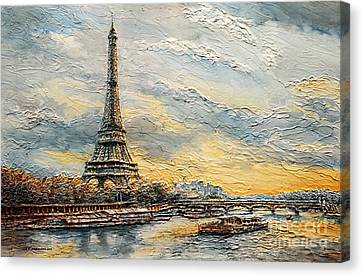 The Eiffel Tower- From The River Seine Canvas Print