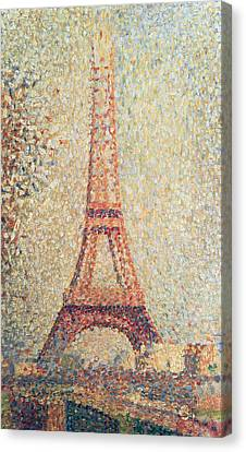 The Eiffel Tower Canvas Print by Georges Pierre Seurat