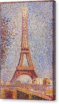 The Eiffel Tower Canvas Print by Georges Seurat