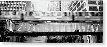 The El Elevated Train Chicago Il Canvas Print by Panoramic Images