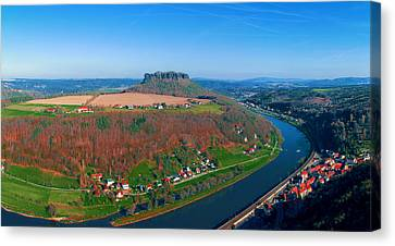The Elbe Around The Lilienstein Canvas Print