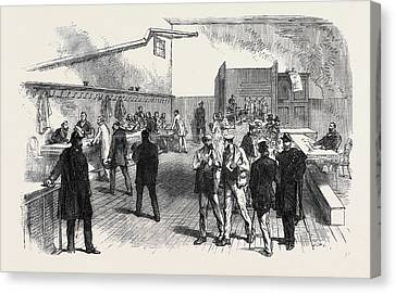 The Elections In France Electors Receiving Canvas Print by French School